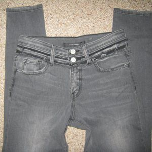 THE BUCKLE FLYING MONKEY GRAY BLACK HIGH JEANS 26